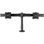 StarTech Dual Monitor Desk Clamp Mount Bracket for 13-27 Inch Flat Panel TV's or Monitors - Up to 8kg