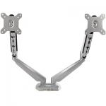 Startech Desk Mount Dual Monitor Arm with USB & Audio Ports - Silver + Prezzy Card Draw Offer