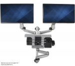 StarTech Premium Dual Monitor & Keyboard Tray Computer Workstation Wall Mount for 13-30 Inch Flat Panel TVs - Up to 9kg + Be in the draw to WIN 1 of 2 $500 Prezzy Cards