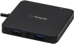 StarTech USB 3.0 USB-C to 3-Port Type-A Hub with Power Delivery - Black