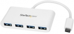 StarTech USB 3.0 USB-C to 4x USB Type-A Hub with Power Adapter - White