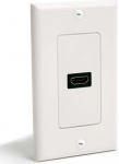 StarTech Single Outlet Female HDMI Wall Plate - White