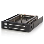 StarTech Trayless Hot Swap Hard Drive Rack for 3.5 Inch Bay to 2x 2.5 Inch SATA HDD/SSD