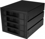 StarTech Trayless Hot Swap Drive Rack for 3.5 Inch Bay to 4x 2.5 Inch SATA HDD/SSD with Backplane