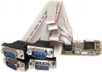 StarTech 4 Port RS232 Mini PCI Express Serial Card with 16650 UART