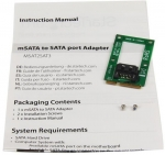 StarTech SATA to mSATA Host Adapter for 2.5 or 3.5 Inch SATA Drives