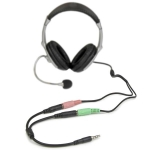 StarTech 20cm Stereo 3.5mm to Mic & Headphone 3.5mm Splitter Y Cable