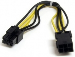 StarTech 20cm PCI Express Power Extension Cable - Black