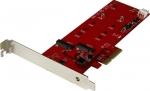 StarTech PCIe Controller Card for 2x M.2 SATA Solid State Drives