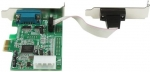 StarTech PCI Express to 2 Port DB9 RS232 Serial Low Profile Adapter Card