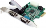 StarTech 2 Port RS232 Serial PCI Express Adapter Card with 16950 UART