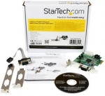 StarTech 2 Port RS232 Serial PCI Express Low Profile Adapter Card with 16950 UART