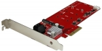StarTech PCIe Adapter Card for 2x M.2 Solid State Drives