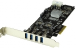 StarTech 4 Port USB 3.0 PCI Express Card with SATA/LP4 Power & UASP - 2x Dedicated 5Gbps Channels