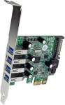 StarTech 4 Port USB 3.0 PCI Express Card with SATA Power & UASP