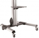 StarTech Height Adjustable Single Display Cart Trolley Mount for 32-75 Inch Flat Panel TVs or Monitors with Lockable Wheels & Camera/DVD Shelf - Up to 40kg + Prezzy Card Draw Offer