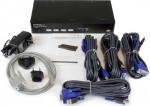 StarTech 4 Port USB VGA KVM Switch with DDM Fast Switching Technology and Cables