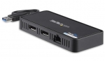 StarTech USB 3.0 to Dual DisplayPort Mini Dock with Gigabit Ethernet Port - 2 x DisplayPort, 1x RJ-45, 1 x USB 3.0