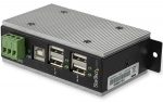 StarTech 4 Port USB 2.0 Industrial USB Hub with ESD Protection & 350W Surge Protection
