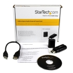 StarTech USB to Stereo Audio Adapter Converter - Black