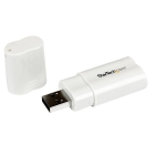 StarTech USB to Stereo Audio Adapter Converter - White
