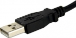 StarTech 0.3m USB 2.0 USB Type-A Male to USB Type-A Female Panel Mount Extension Cable - Black + Prezzy Card Draw Offer