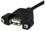 StarTech 0.9m USB 2.0 IDC Motherboard Header to USB Type-A Female Panel Mount Extension Cable - Black + Be in the draw to WIN 1 of 2 $500 Prezzy Cards