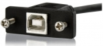 StarTech 0.9m USB 2.0 USB Type-B Male to USB Type-B Female Panel Mount Extension Cable - Black + Prezzy Card Draw Offer