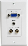 StarTech Female VGA Wall Plate with 3.5mm & RCA - White
