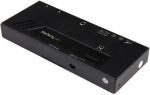 StarTech 2 Port HDMI 4K Automatic Video Switch with Fast Switching - Black