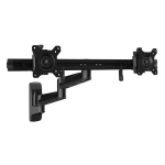 StarTech Articulating Dual Monitor Wall Mount Bracket for 15-24 Inch Monitors - Up to 5kg per Display