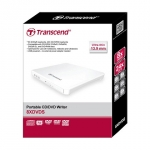 Transcend External Slim 8 X DVD Writer (USB 2.0) White Extra Slim