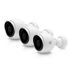 Ubiquiti UniFi Protect G3 1080p Weather Resistant PoE Network IR Bullet Camera - 3 Camera Pack
