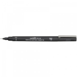 Uni-Ball Pin 200 0.4mm Black Permanent Fine Liner Pen