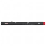 Uni-Ball Pin 200 0.8mm Red Permanent Fine Liner Pen