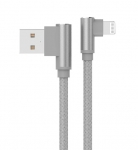 Unitek 1m L-Shape USB-A to Lightning Cable - Space Grey