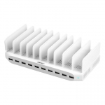 Unitek PowerPort 10 Port USB Charging Station with Adjustable Bracket Stands