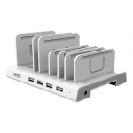 Unitek 4 Port USB Charging Station with Adjustable Bracket Stands