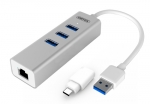 Unitek USB Type-A and USB-C to Gigabit Ethernet Adapter with 3 USB Ports