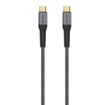 Verbatim Tough Max 1.2m USB-C Male to USB-C Male Braided Charge & Sync Cable - Grey