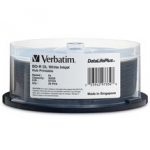 Verbatim BD-R DL 50GB 6X Wide White Inkjet 25 Pack Spindle