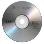Verbatim CD-R 52X 700MB Branded Surface CD Discs - 100 Pack