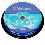 Verbatim CD-R 52x 700MB Spindle Pack - 10 Pack