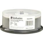 Verbatim DataLifePlus BD-R 6X 50GB Thermal Hub Printable Blu-Ray Discs - 25 Pack
