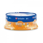 Verbatim AZO DVD-R 16X 4.7GB Branded Surface DVD Discs - 25 Pack