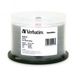Verbatim DataLifePlus DVD-R 16X 4.7GB Silver Screen Printable DVD Discs - 50 Pack