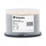 Verbatim UltraLife DVD-R 8X 4.7GB Gold Archival Grade with Branded Surface DVD Discs - 50 Pack