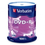 Verbatim DVD+R 4.7GB 100 Pack Spindle 16x