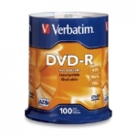 Verbatim DVD-R 4.7GB Spindle - 100 Pack