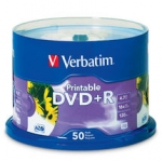 Verbatim DVD+R 4.7GB 50 Pack White Inkjet 16x